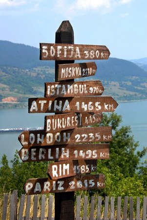 balkan: various direction signs on Captain Misa