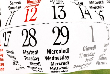 details of calendar of leap year, February 2012 photo