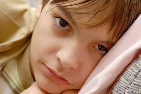cute teen boy: Boy portrait Stock Photo