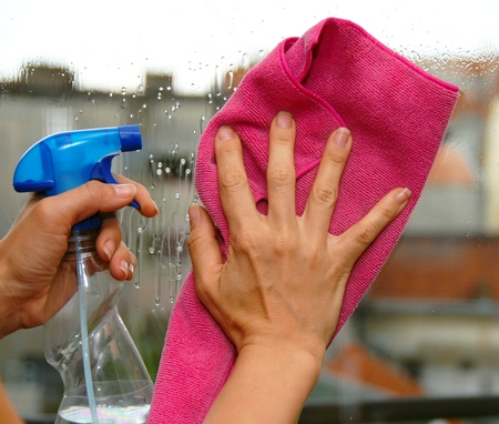 Glass cleaning Stock Photo - 12786315