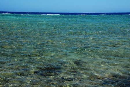 seawater: blue seawater of Red Sea in Egypt