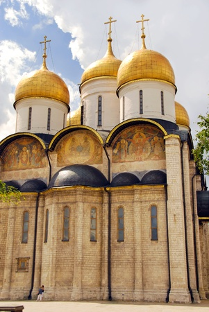 assumption: exterior of the Assumption cathedral in Moscow Kremlin, Russia Stock Photo