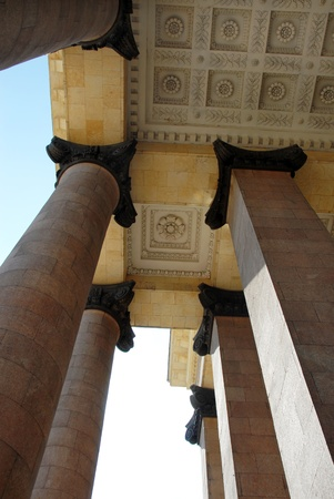 stone columns of Lomonosov university in Moscow, Russia Stock Photo - 13336535
