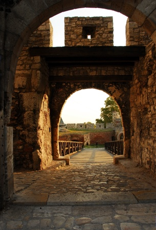 architecture details of Kalemegdan fortress in Belgrade, Despots Gate photo