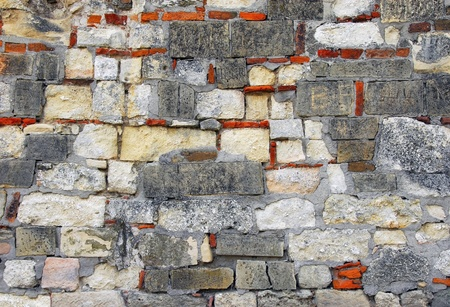 old colorful stone wall of Kalemegdan fortress in Belgrade Stock Photo - 13533488