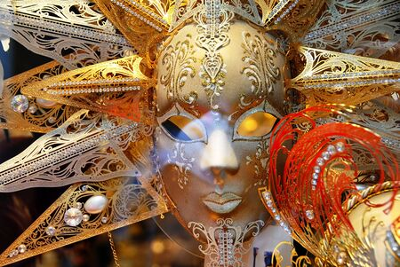 decorative golden luxury mask  in Venice, Italy Stock Photo - 13533470