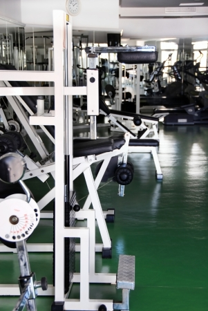 modern gym interior with various equipment inside photo