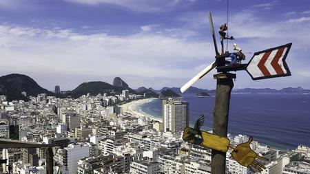 View of Copacabana in Rio de Janeiro from Mirante do Pavao