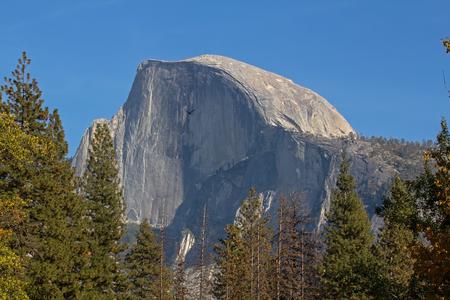 Monumental Half Dome in Yosemite National Park in California