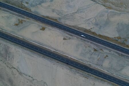 Aerial view of an Interstate Banco de Imagens