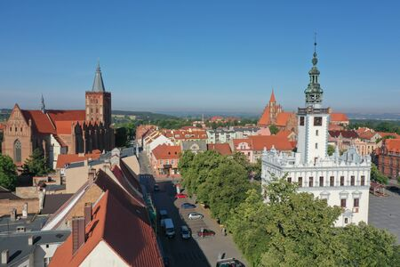 Morning Sun over an Old Town in Europe Reklamní fotografie