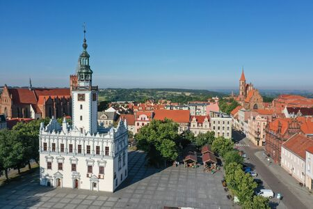 Renaissance Town Hall in the middle of town square in Poland Reklamní fotografie