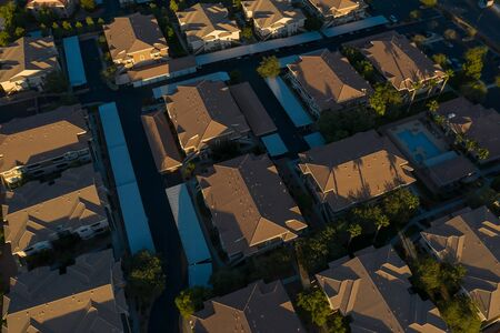 Suburban houses in Las Vegas Nevada