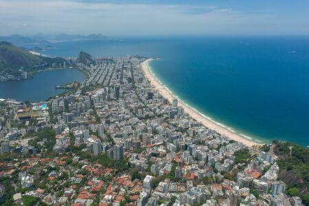 Beaches of Rio de Janeiro shot from the drone Stock Photo