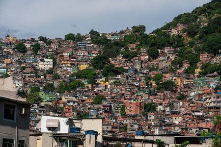 Beautiful view of favela in Sao Conrado in Rio de Janeiro