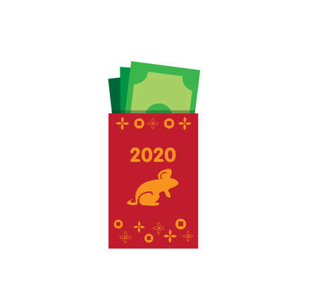 money on red envelope