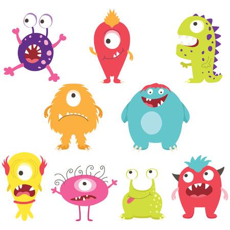 Conjunto de monstruos CuteSilly