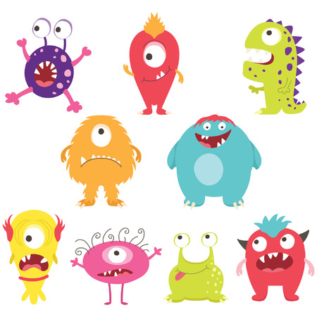 Set of CuteSilly Monsters