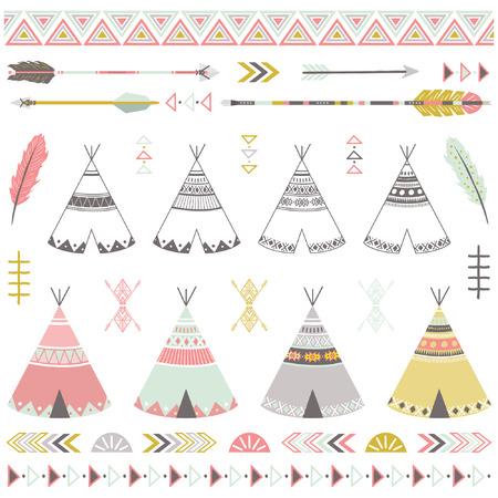 Tribal Teepee Tents Elements