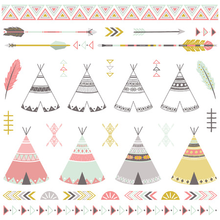 Tribal Teepee Tents Elements
