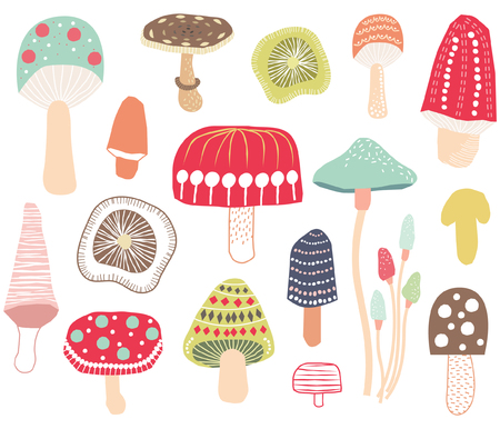Colorful Mushroom Elements