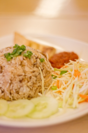 A Plate of Vegetarian Fried Rice