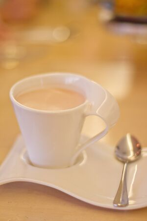 A Cup of Hot Chocolate with Fancy Cup and Saucer Stock Photo - 8894876
