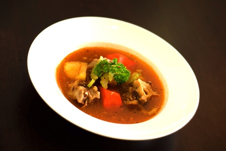 Delicious ox bone soup