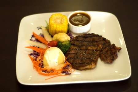 black pepper beef steak