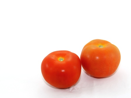 Fresh red tomatoes on white background  Stock Photo