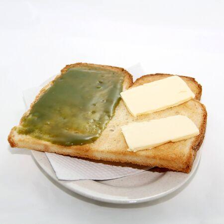 kaya: Local breakfast toast with butter and coconut jam- kaya