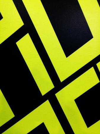 black: fluorescent Yellow and black