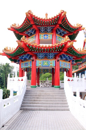 pagoda in chine temple Stock Photo