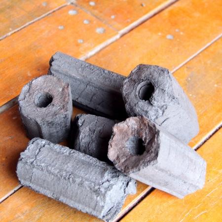 charcoal briquettes Stock Photo