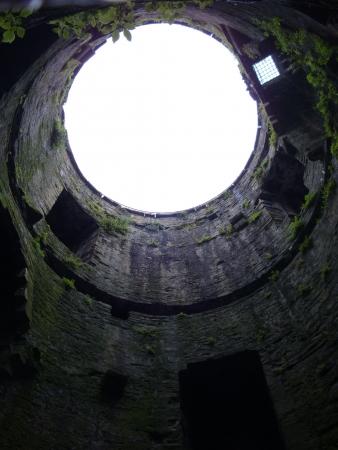 crenellated: Conwy Castle ruin