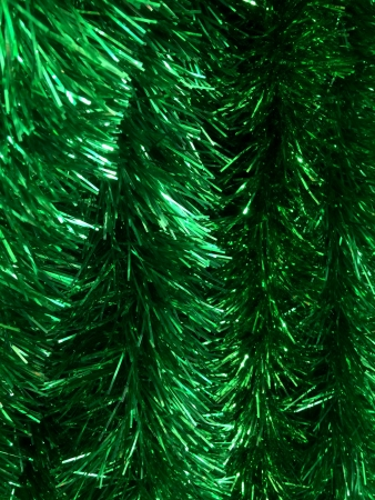 shiny: green glitter tinsel