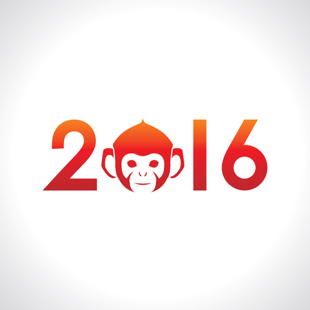 vector  sign: The Year of the Monkey, Monkey Year.