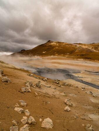 geothermal: Mud pot and geothermal activity at Namaskard, Myvatn, Iceland.