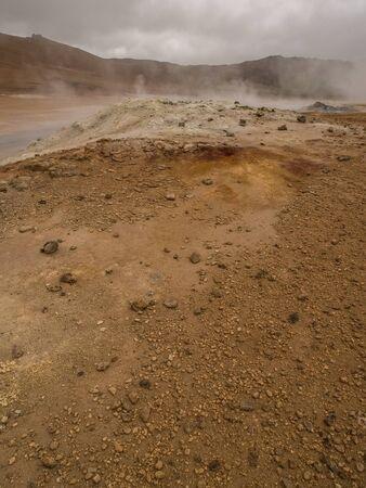 geothermal: Geothermal activity at Namaskard, Myvatn, Iceland.