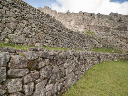 lost city: The lost city of Machu Picchu near Cusco, Peru, South America. Stock Photo