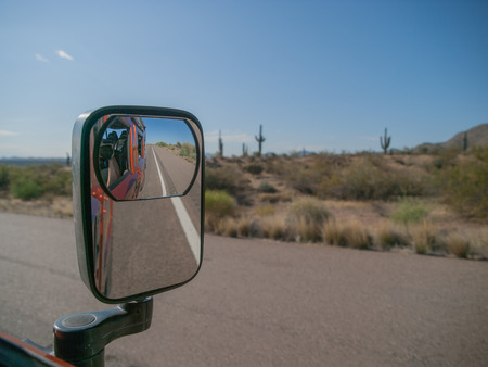tonto national forest: Tourist roadtrip in Hummer to the Tonto National Forest in Arizona, USA. Stock Photo