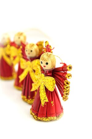 ornamentation: Decorative christmas angels Stock Photo