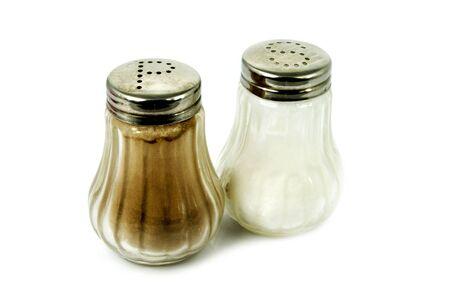 salt pepper: Salt and pepper shaker on white Stock Photo