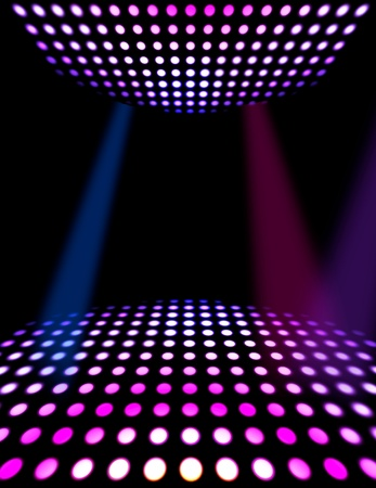 floor ball: Dance floor disco poster background