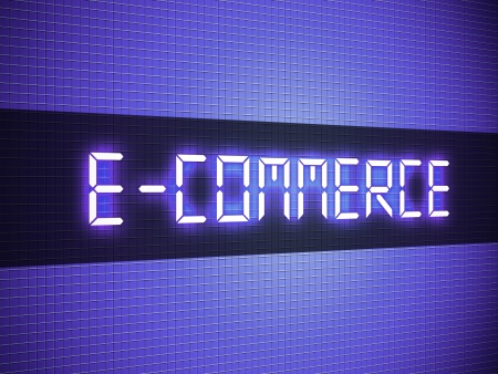 Digital e-commerce word on lcd-styled display Stock Photo - 18306732