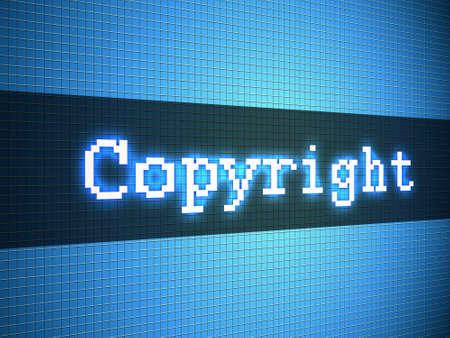 Copyright word on lcd-styled display Stock Photo - 18306736