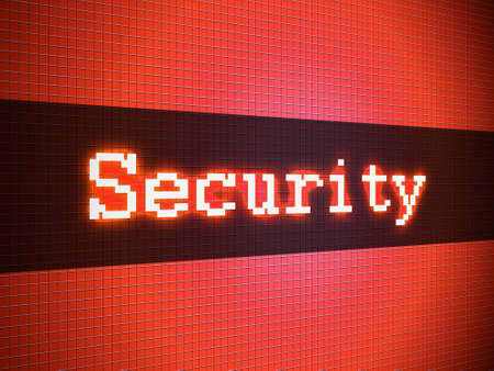 Security word on lcd-styled display Stock Photo - 18306738