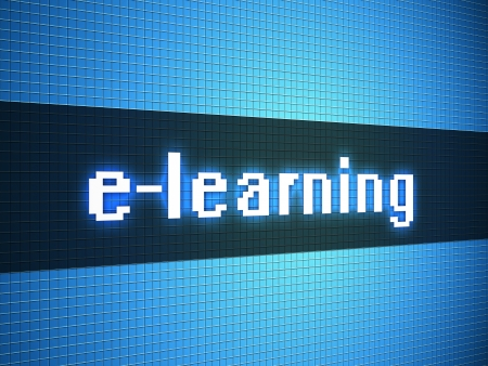 e-learning word on lcd-styled display Stock Photo - 18306734