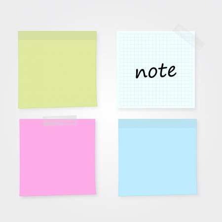 post it note: blank colorful memo set