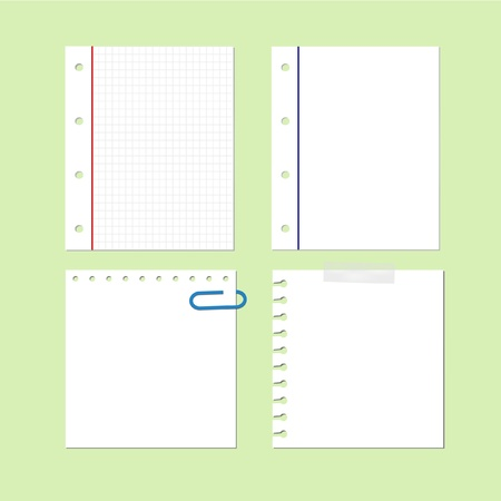 Paper Sheet Blank Note Memo Set Royalty Free Cliparts Vectors